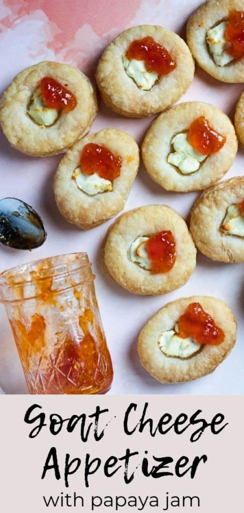 Goat cheese appetizer pinterest graphic