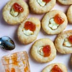 Goat Cheese Appetizer with Puff Pastry and Jam