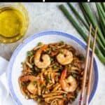 Homemade Shrimp Fried Rice Pinterest Image top black banner