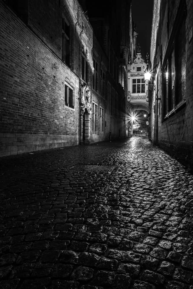 Photo of a Bruges Street to represent In Bruges, the movie to watch during your At Home Date Night