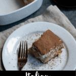 Italian Tiramisu Dessert Pinterest Image Bottom Black Banner