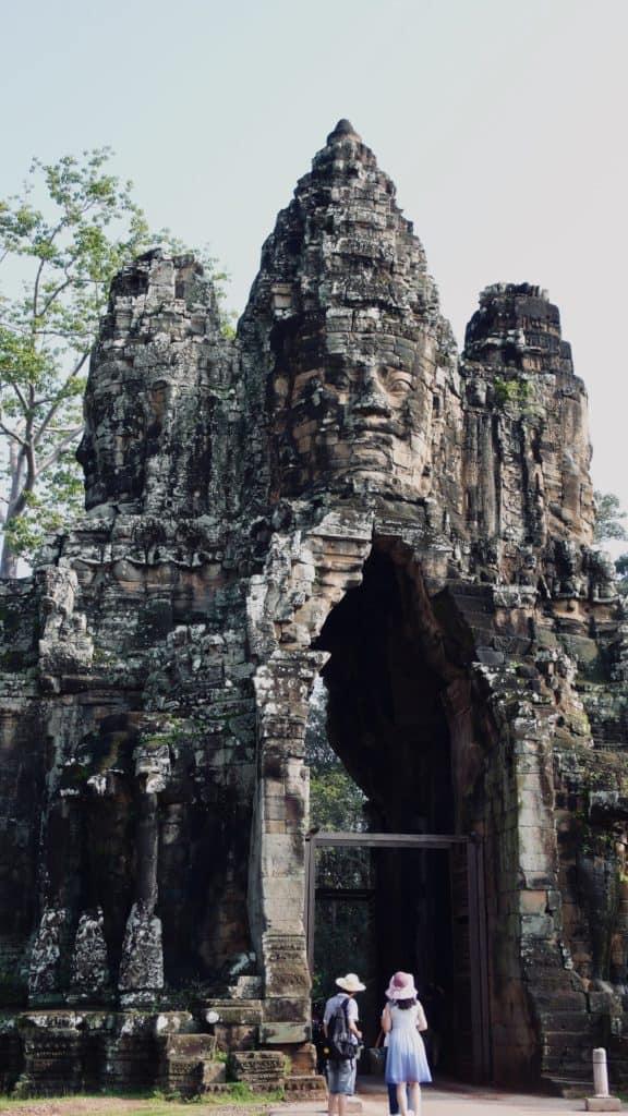 people under Angkor Wat