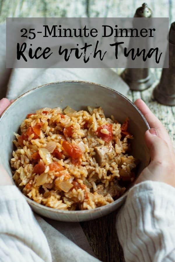 Tuna Rice Pinterest Graphic