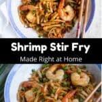 Homemade Shrimp Fried Rice Pinterest Image middle black banner