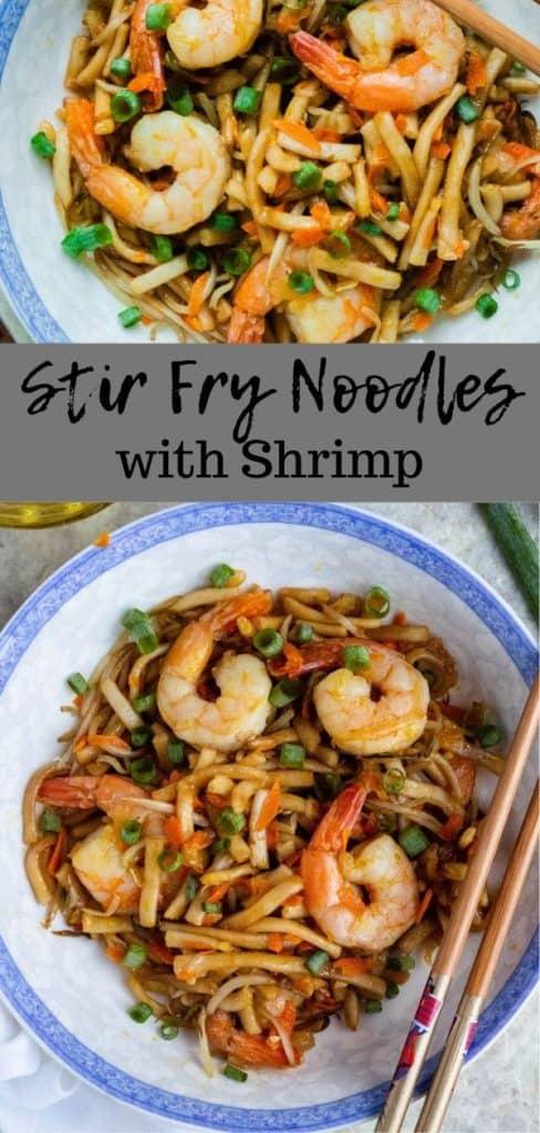 pinterest image for stir fry noodles