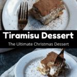 Christmas Tiramisu Dessert Middle Black Banner