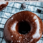 Valentine's Day Chocolate Donuts Pinterest Image top striped banner