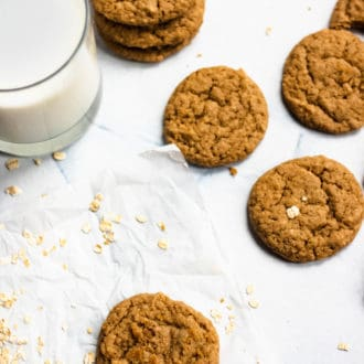 maple cookies strewn on the table