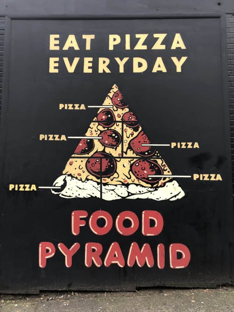 Pizza mural