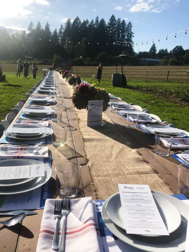 Long table setting in Portland