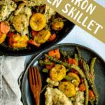 Cast Iron Skillet Chicken Pinterest Image