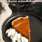 Christmas Pumpkin Pie Pinterest Image Top Striped Banner
