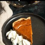 Christmas Pumpkin Pie Pinterest Image Top BLack Banner