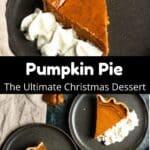Christmas Pumpkin Pie Pinterest Image Middle Black Banner
