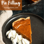 Dulce de Leche Pumpkin Pie Filling Pinterest Image Top Left Banner