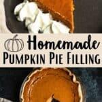 Homemade Thanksgiving Pumpkin Pie Recipe Pinterest Image middle design middle banner