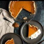 Homemade Thanksgiving Pumpkin Pie Recipe Pinterest Image top black banner