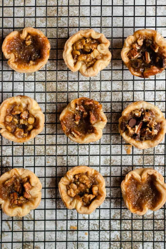 display of baked butter tart recipe