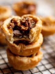 stacked butter tarts from butter tart recipe