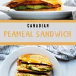 Peameal Bacon Sandwich Pinterest Image