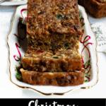 Christmas Fruit Cake Pinterest Image bottom black banner