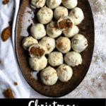 Christmas Gingerbread Truffles Pinterest Image Bottom Black Banner
