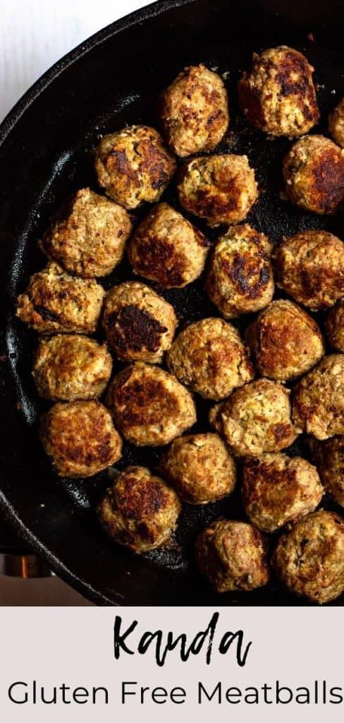 Gluten Free meatballs Pinterest image