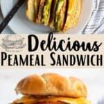 Peameal Sandwich Pinterest Image middle design banner