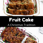 Christmas Fruit Cake Pinterest Image middle black banner