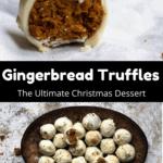 Christmas Gingerbread Truffles Pinterest Image Middle Black Banner