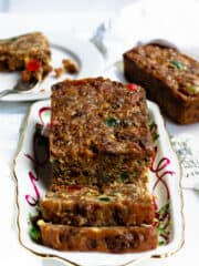 Vertical christmas fruit cake