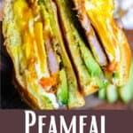 Peameal Sandwich Pinterest Image bottom design banner
