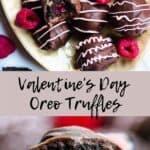 Valentines Day Oreo Truffles Pinterest Image