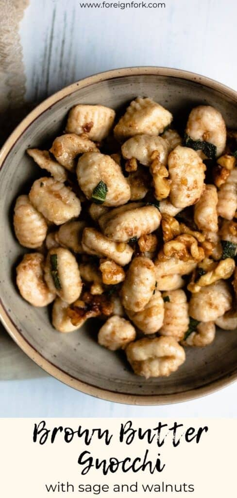 Brown Butter Gnocchi with Pinterest Image
