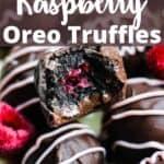 Raspberry Oreo Truffles Pinterest Image top design banner