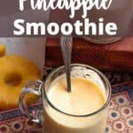Pineapple Mango Smoothie Pinterest Image top design banner