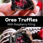 Valentine's Day Oreo Truffles Pinterest Image Middle Black banner