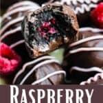 Raspberry Oreo Truffles Pinterest Image bottom design banner