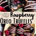 Raspberry Oreo Truffles Pinterest Image middle design banner