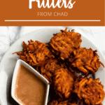 Sweet Potato Fritters with Tahini Sauce Pinterest Image