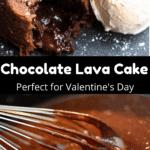 Valentine's Day Chocolate Lava Cake Pinterest Image Middle Black Banner