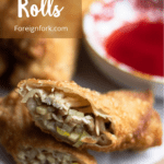 Chinese Egg Rolls Pinterest Image Top Right Clear banner