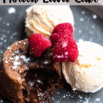 Chocolate Molten Lava Cake Pinterest Image Top Banner