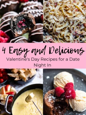 pinterest graphic for valentines day recipes