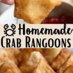 Homemade Crab Rangoons Pinterest Image middle design banner