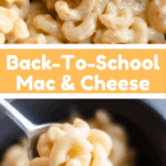 Back to school macaroni and cheese pinterest image middle banner