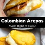 How to Make Colombian Arepas Pinterest Image middle black banner