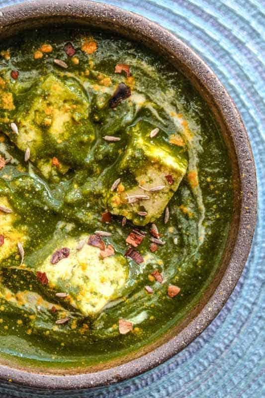 Indian recipes instant pot palak paneer