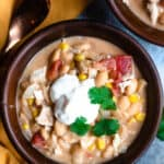 White Bean Chicken Chili in the Instant Pot