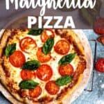 New Margherita Pizza Pinterest Image top design banner